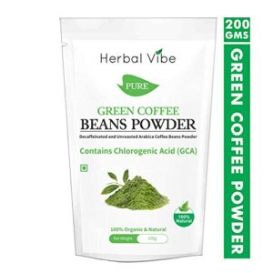 Green Coffee Beans Powder Front View