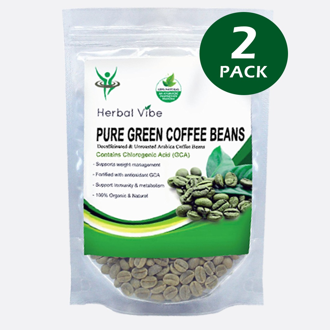 Organic Pure Green Coffee Beans for Weight Loss Management ...